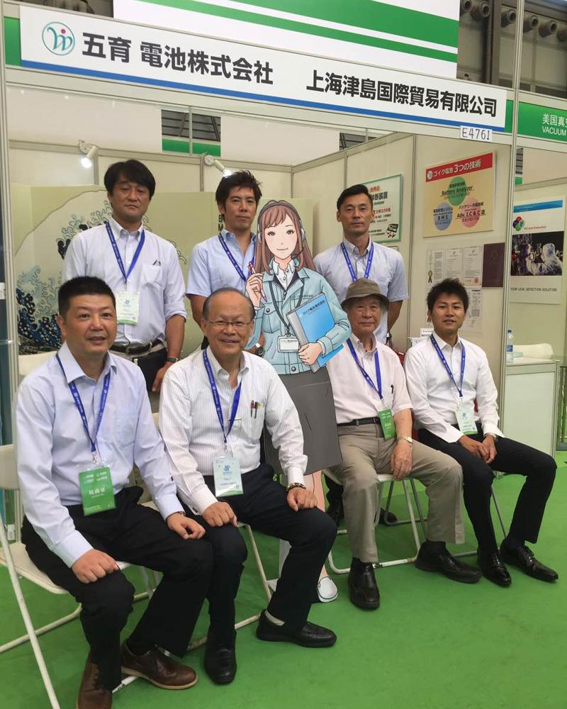上海電池展示会の様子。7